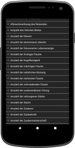 Kompaltregeln Screenshot Magische Gegenstände