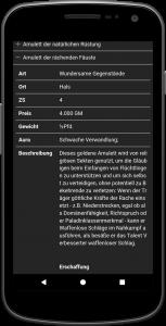 Kompaltregeln Screenshot Detail Magische Gegenstände