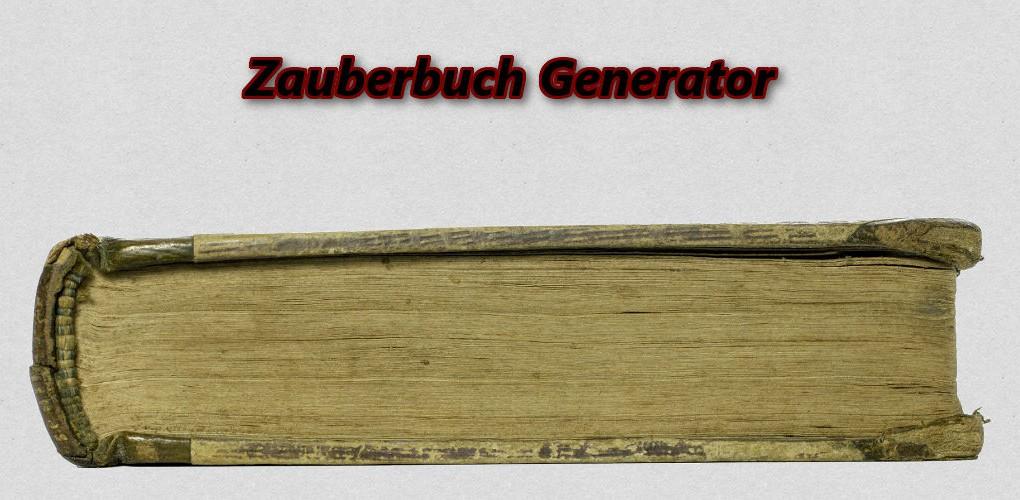 Zauberbuch Generator